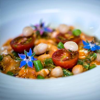 Plat restaurant gastronomique Coutances